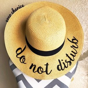 Accessories - Do Not Disturb Sun Hat Vacation Hat Paper Hat